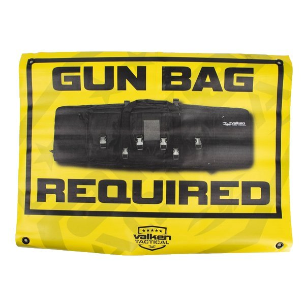 """View larger image of Valken Airsoft """"Gun Bag Required"""" Field Sign"""