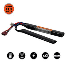 Valken LiPo 11.1v 1200mAh 30c Split Airsoft Battery (Dean)