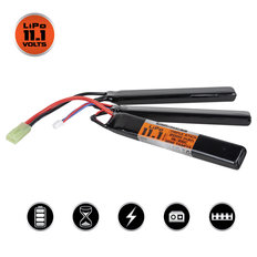 Valken LiPo 11.1V 2000mAh 25C Triple Split Airsoft Battery (Small Tamiya)