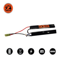 Valken LiPo 7.4V 1400mAh 25C Split Airsoft Battery (Small Tamiya)
