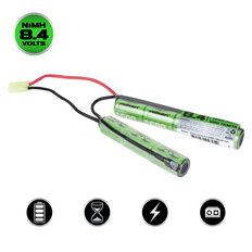 Valken NiMh 8.4V 1600mAh Split Airsoft Battery (Small Tamiya)