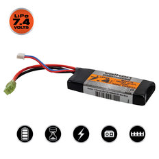 Valken Li-Po 7.4v 1600mAh 30C Brick Airsoft Battery (Small Tamiya)