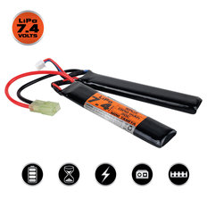 Valken LiPo 7.4V 1300mAh 30C Split Airsoft Battery (Small Tamiya)