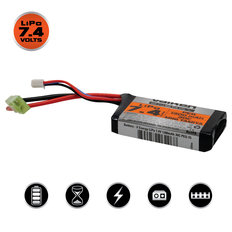 Valken LiPo 7.4v 1300mAh 30C PEQ Airsoft Battery (Small Tamiya)