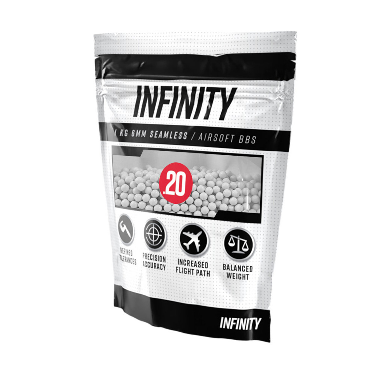 View larger image of Infinity 0.20g 5,000ct Airsoft BBs (1kg)