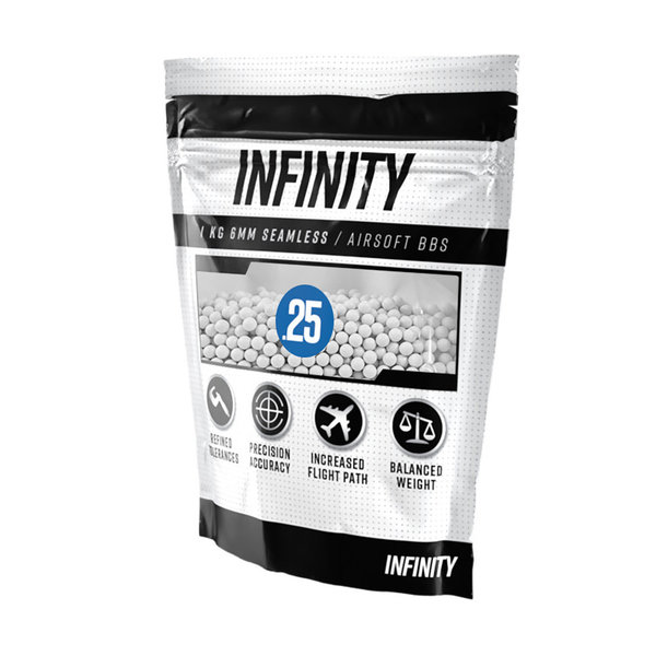 View larger image of Infinity 0.25g 4,000ct Airsoft BBs (1kg)