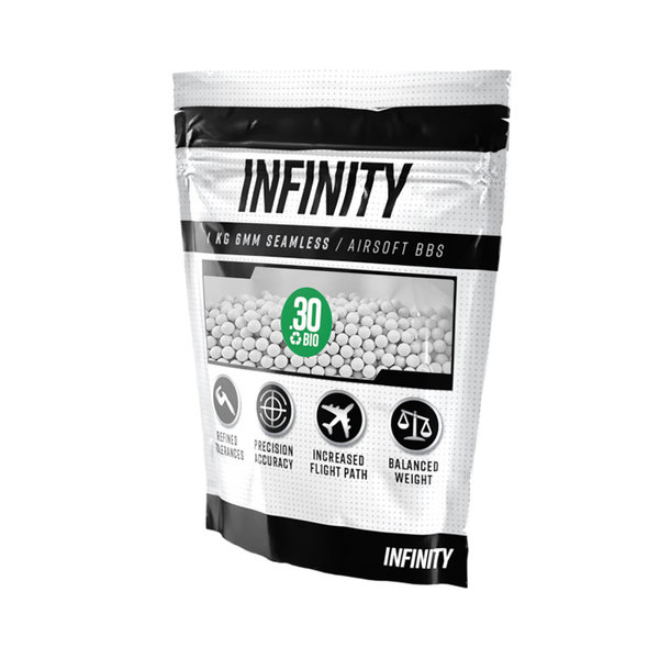 View larger image of Infinity 0.30g 3,300ct Biodegradable Airsoft BBs (1kg)