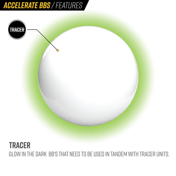 View larger image of Valken Accelerate ProMatch 0.25g 2500ct Airsoft Tracer BBs