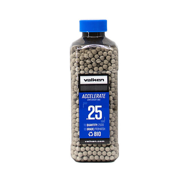 View larger image of Valken Accelerate ProMatch 0.25g 2,500ct Biodegradable Airsoft BBs