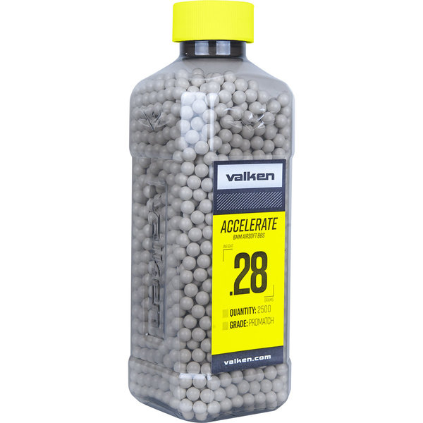 View larger image of Valken Accelerate ProMatch 0.28g 2,500ct Airsoft BBs