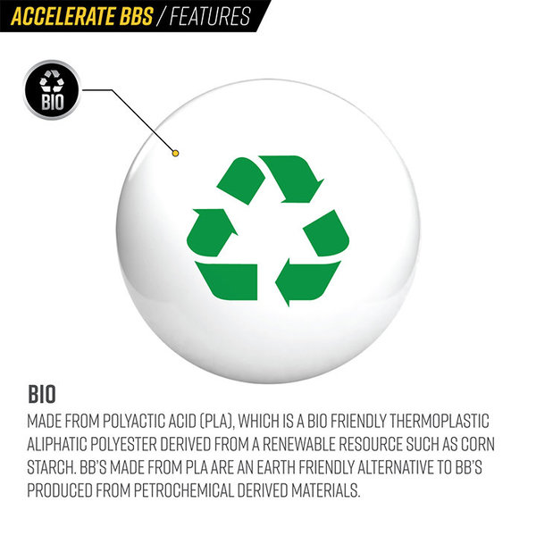 View larger image of Valken Accelerate ProMatch 0.28g 2,500ct Biodegradable Airsoft BBs