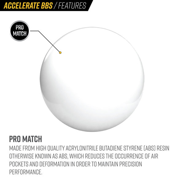 View larger image of Valken Accelerate ProMatch 0.30g 2,500ct Airsoft BBs