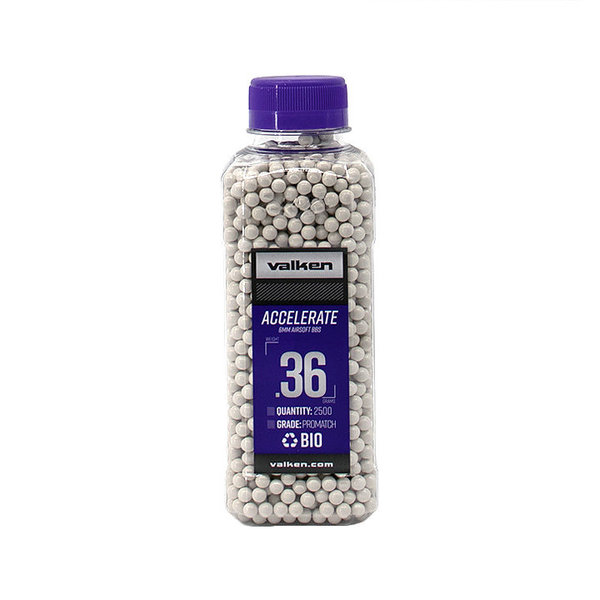 View larger image of Valken Accelerate ProMatch 0.36g 2,500ct Biodegradable Airsoft BBs
