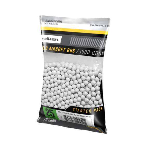 View larger image of Valken Field 0.25g 1,000ct Biodegradable Airsoft BBs