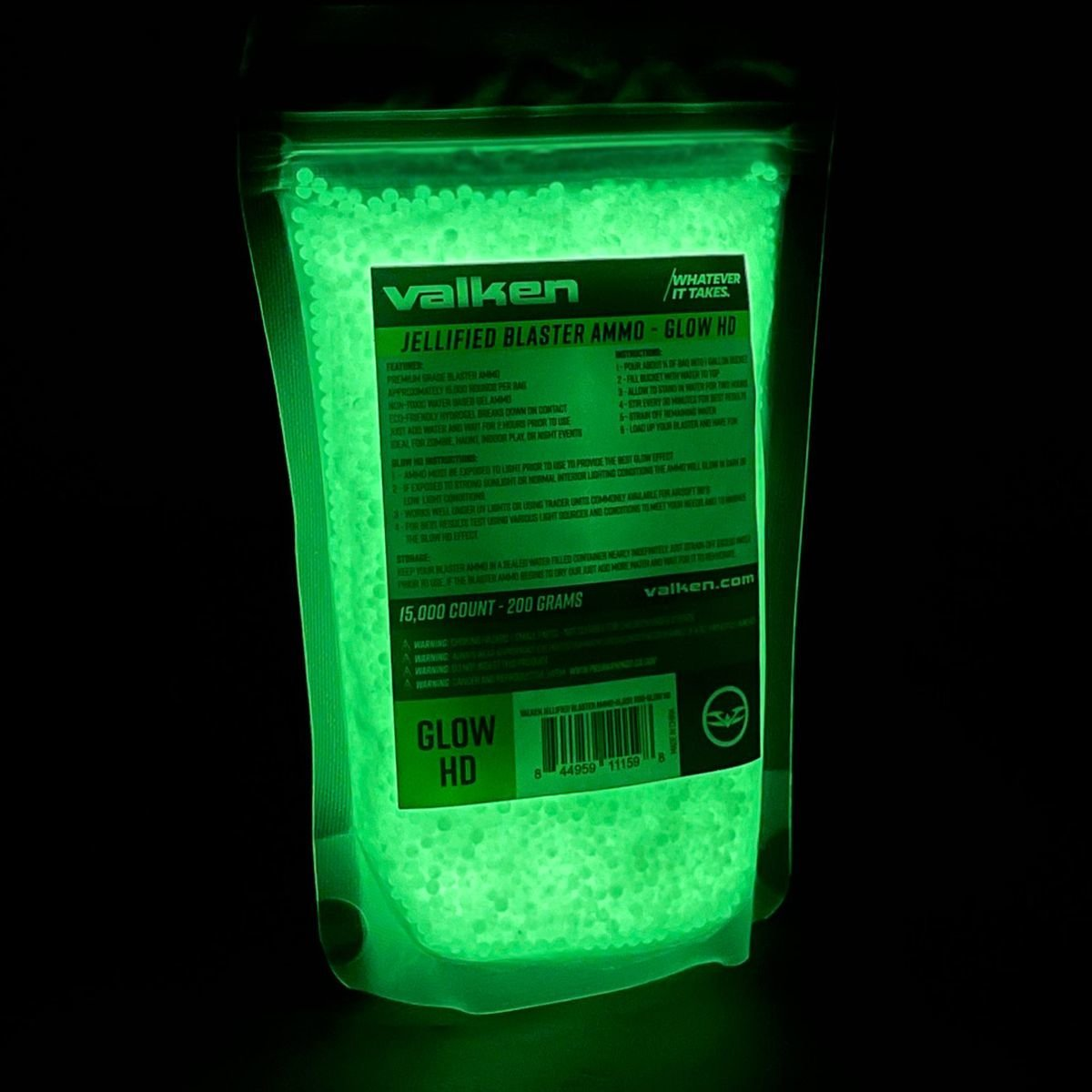 View larger image of Valken GLOW HD GB Ammo -15,000rds