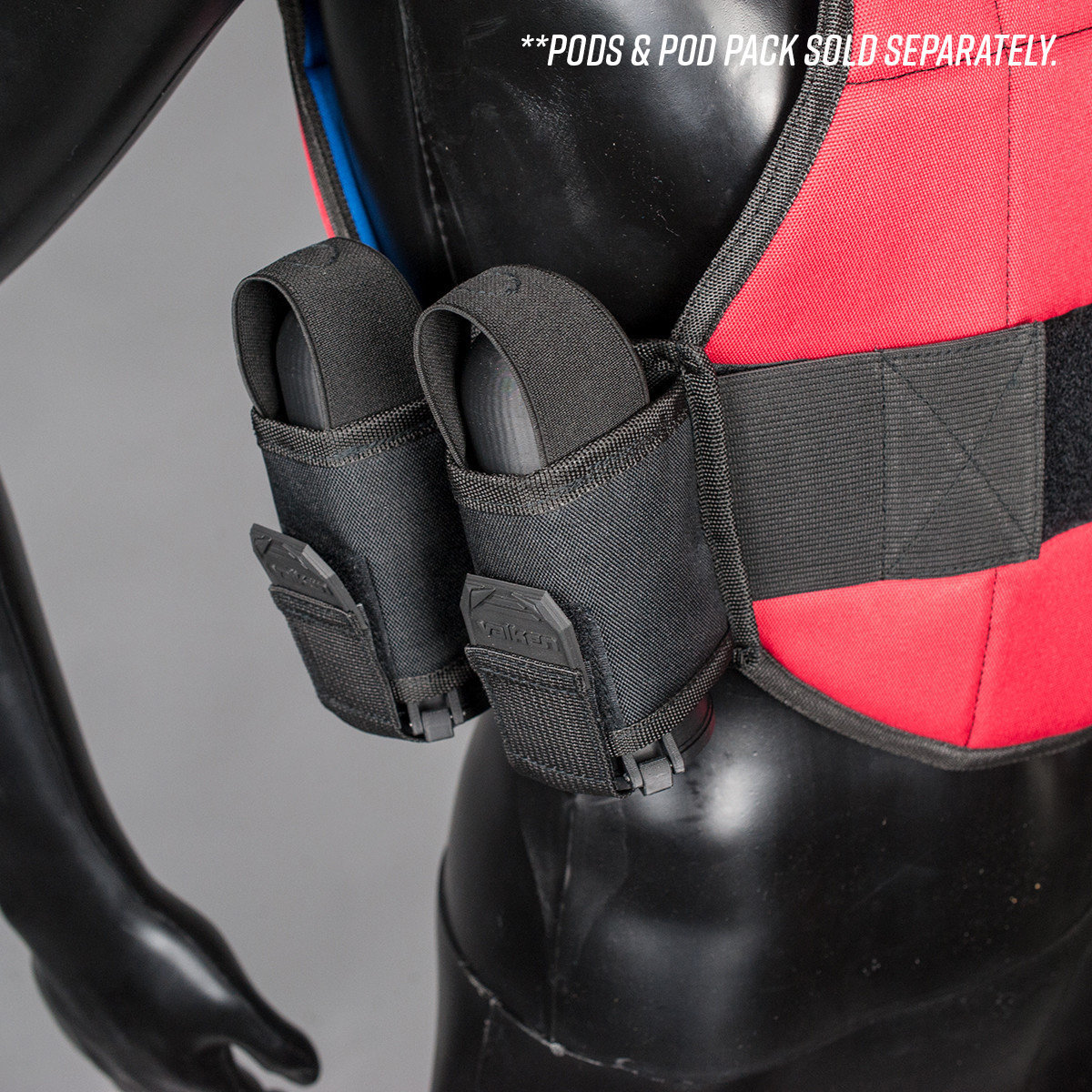View larger image of Reversible Blue/Red Valken Gotcha Paintball Chest Protector