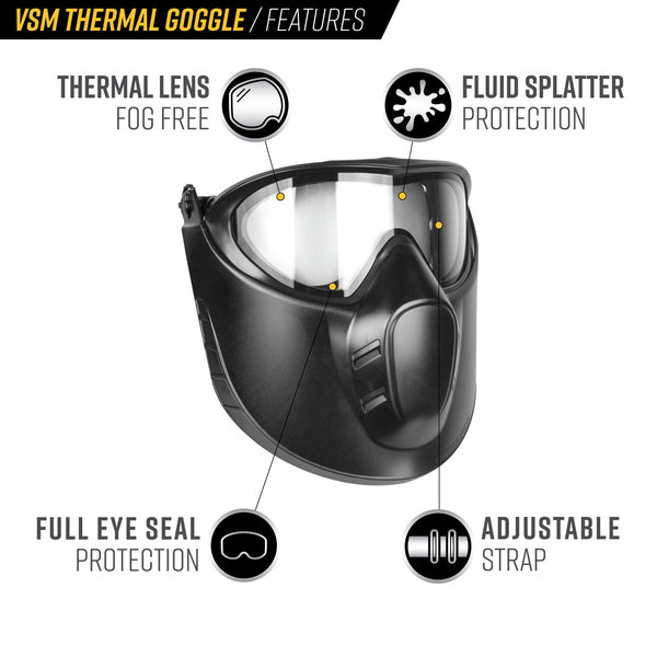 View larger image of Valken VSM Thermal Airsoft Goggles - Black