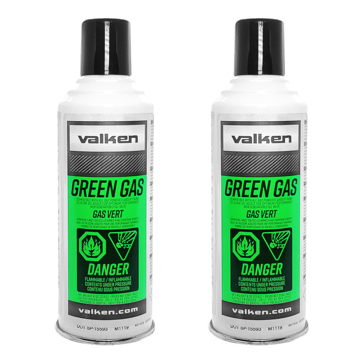 View larger image of Valken 8oz Green Gas - 2 Cans