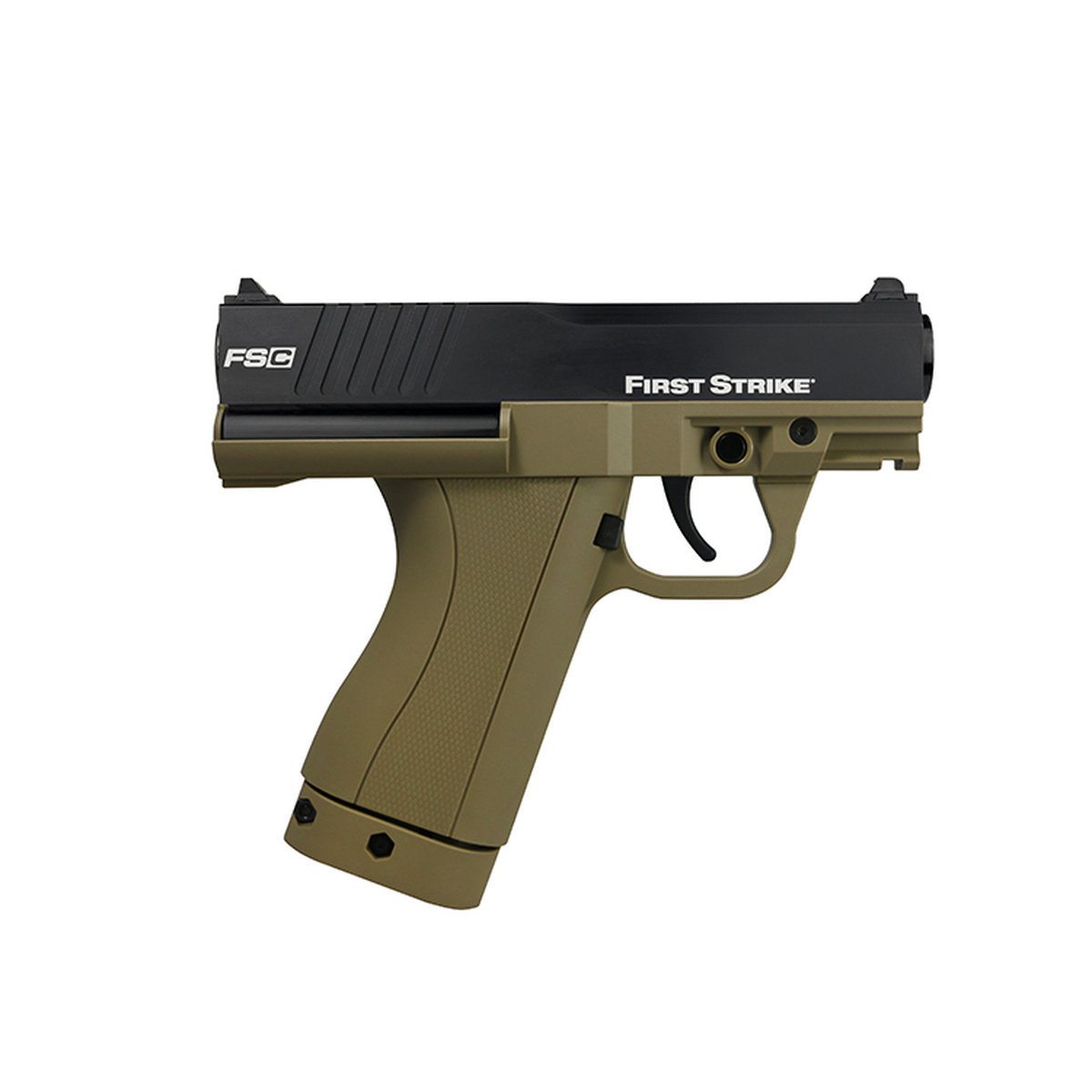 View larger image of First Strike FSC Compact Paintball Pistol with 2 Mags - Tan