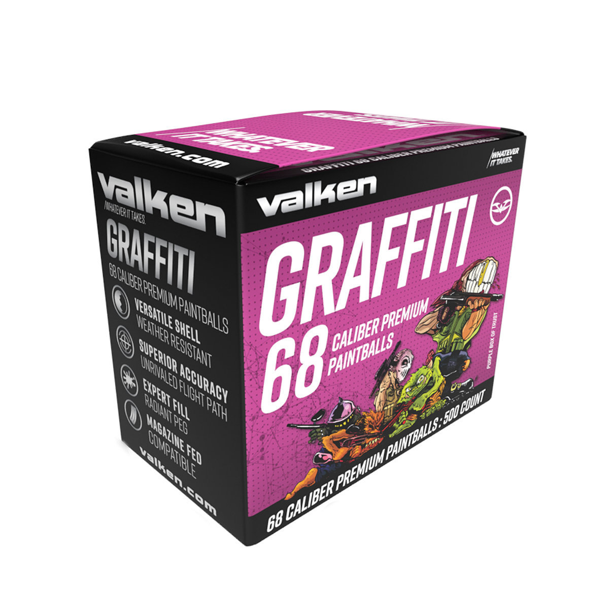 View larger image of Valken Graffiti .68 Caliber Paintballs - 500 Count
