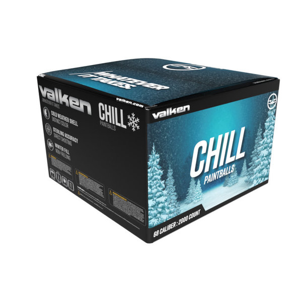 View larger image of Valken Chill .68 Caliber Winter Formula Paintballs - 2,000ct