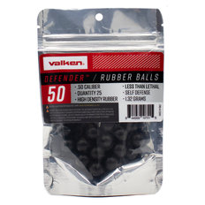 Valken Defender .50 Caliber Hard Rubber Balls - 25ct