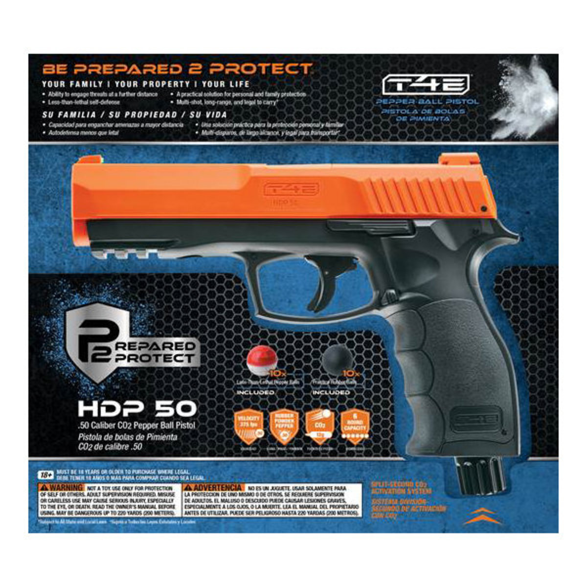 View larger image of Umarex P2P HDP .50 Caliber Home Defense Pistol with Pepper Ammo