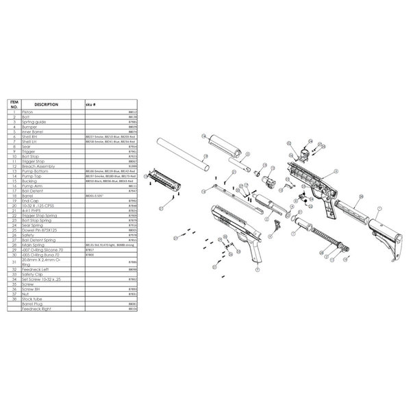 View larger image of Rifle Parts - Gotcha Part# 7 Shell LH Blue