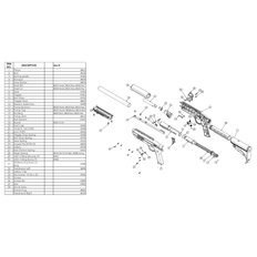 Rifle Parts - Gotcha Part# 20 Screw 10-32 x.125 CPSS