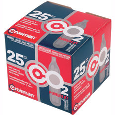 Crosman 12g CO2 Powerlet Cartridges - 25 Count