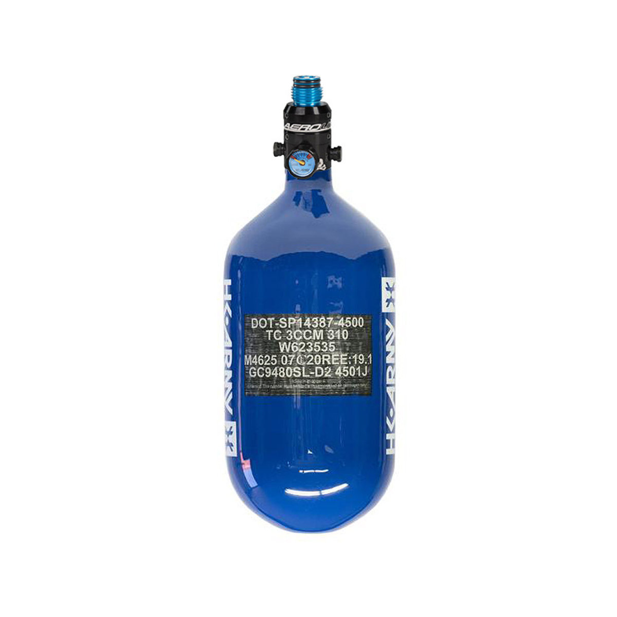View larger image of HK Army 68/4500 Extra Lite Paintball Compressed Air Tank w/Pro Reg