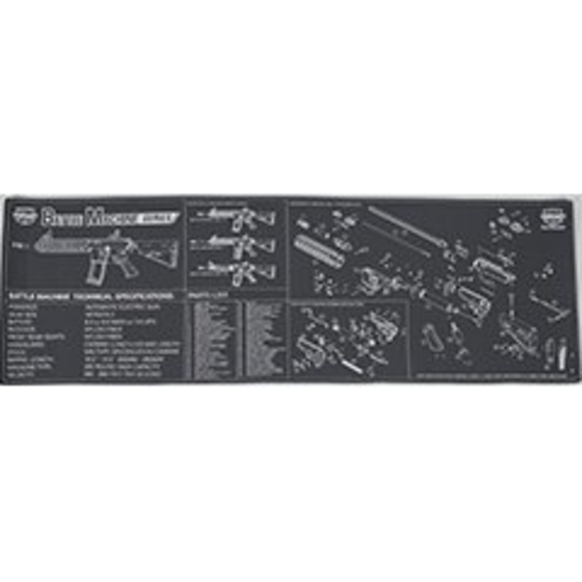 "View larger image of Tech Mat - Battle Machine Neoprene 34"" x 11"""