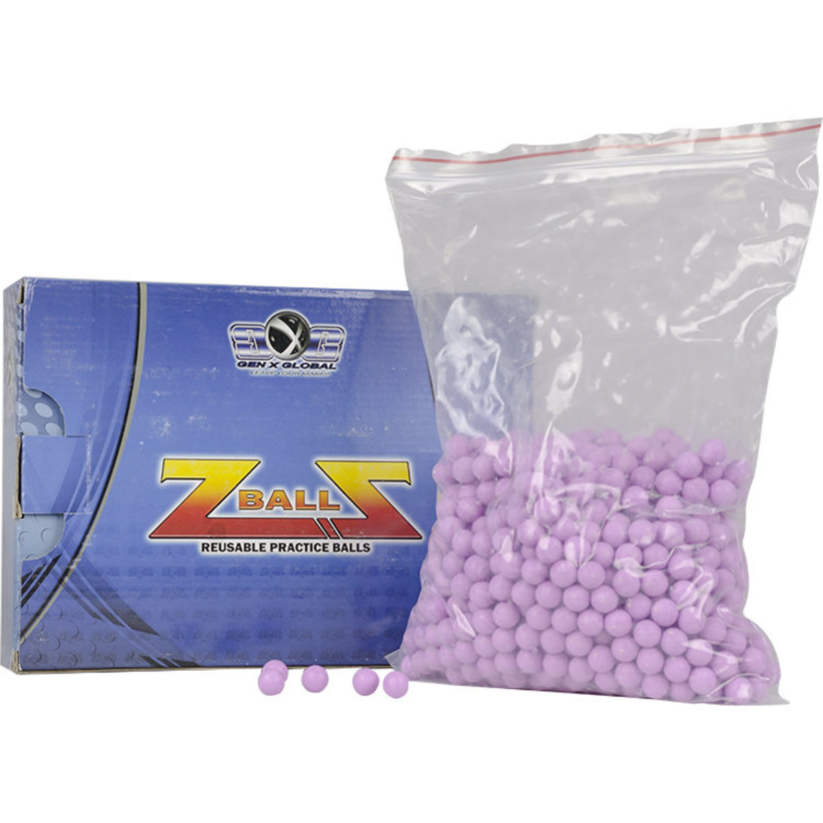 View larger image of GXG Reusable .50 Caliber Rubber ZBalls - 1000 Count - Purple